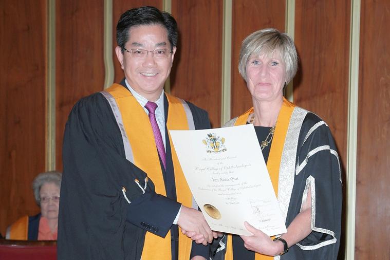 附属九院范先群教授当选英国皇家眼科学院Fellow